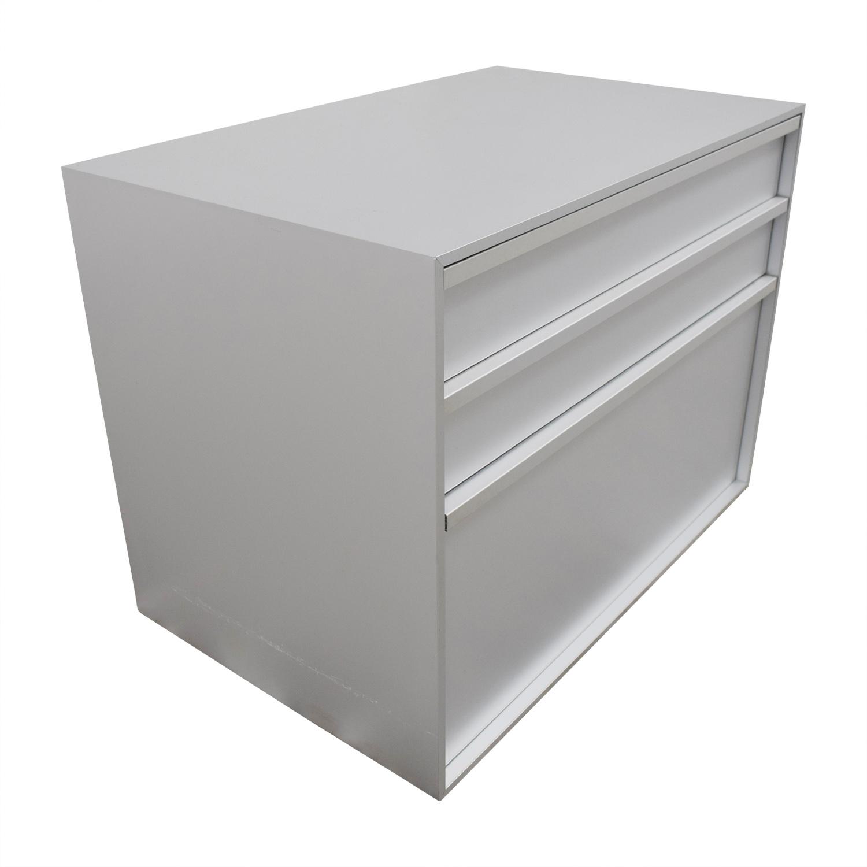 MDF Italia MDF Italia Three-Drawer Grey File Cabinet Filing & Bins