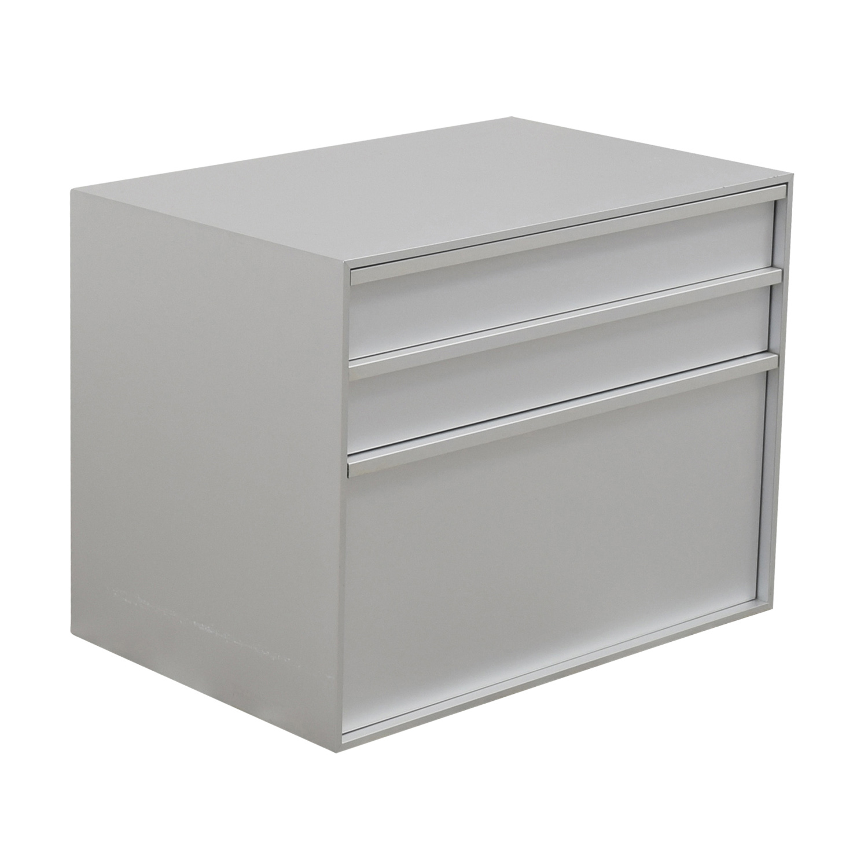 MDF Italia Three-Drawer Grey File Cabinet MDF Italia