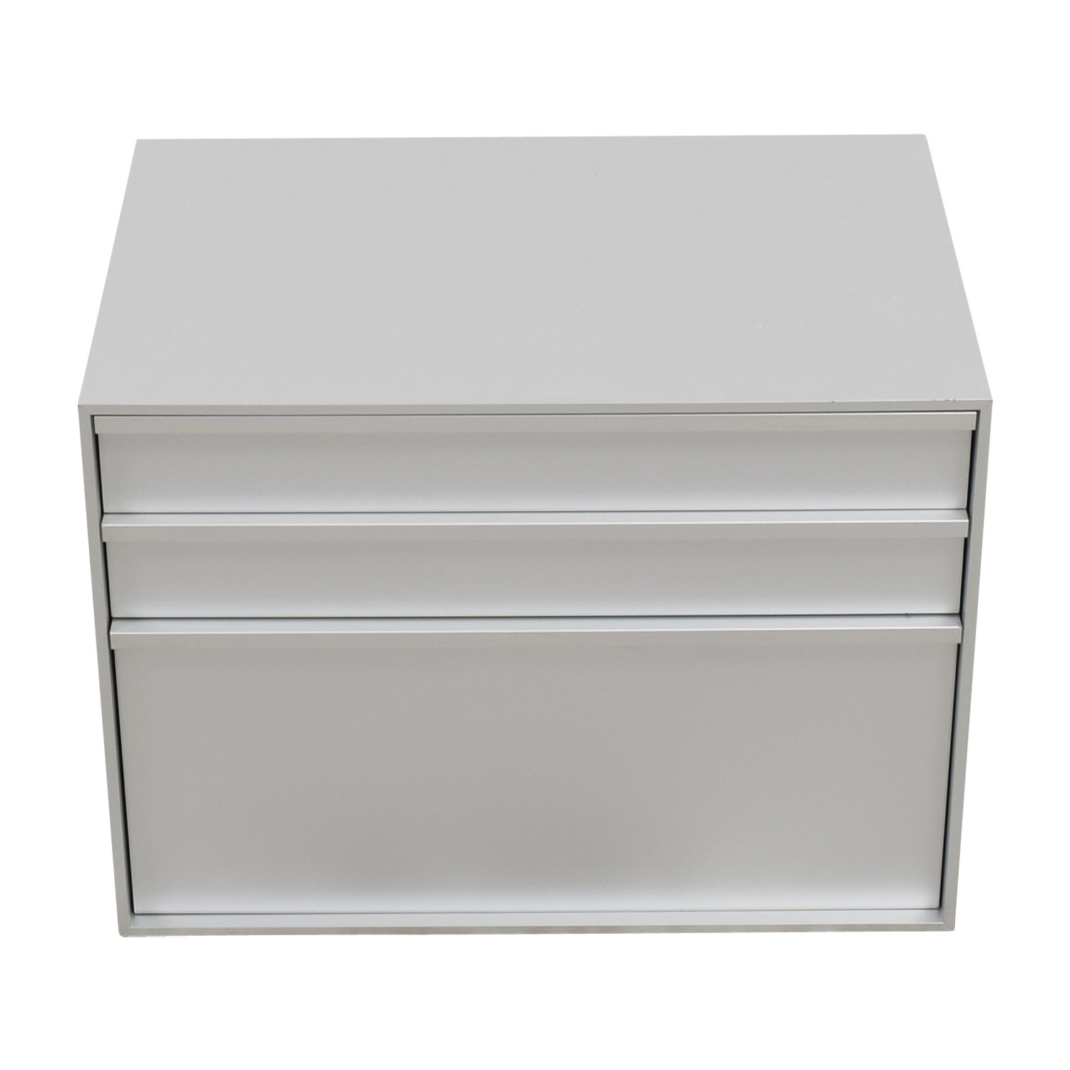 MDF Italia MDF Italia Three-Drawer Grey File Cabinet dimensions