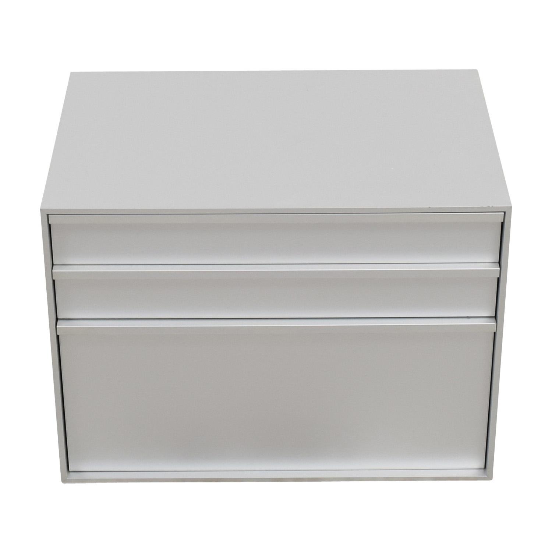 MDF Italia MDF Italia Three-Drawer Grey File Cabinet
