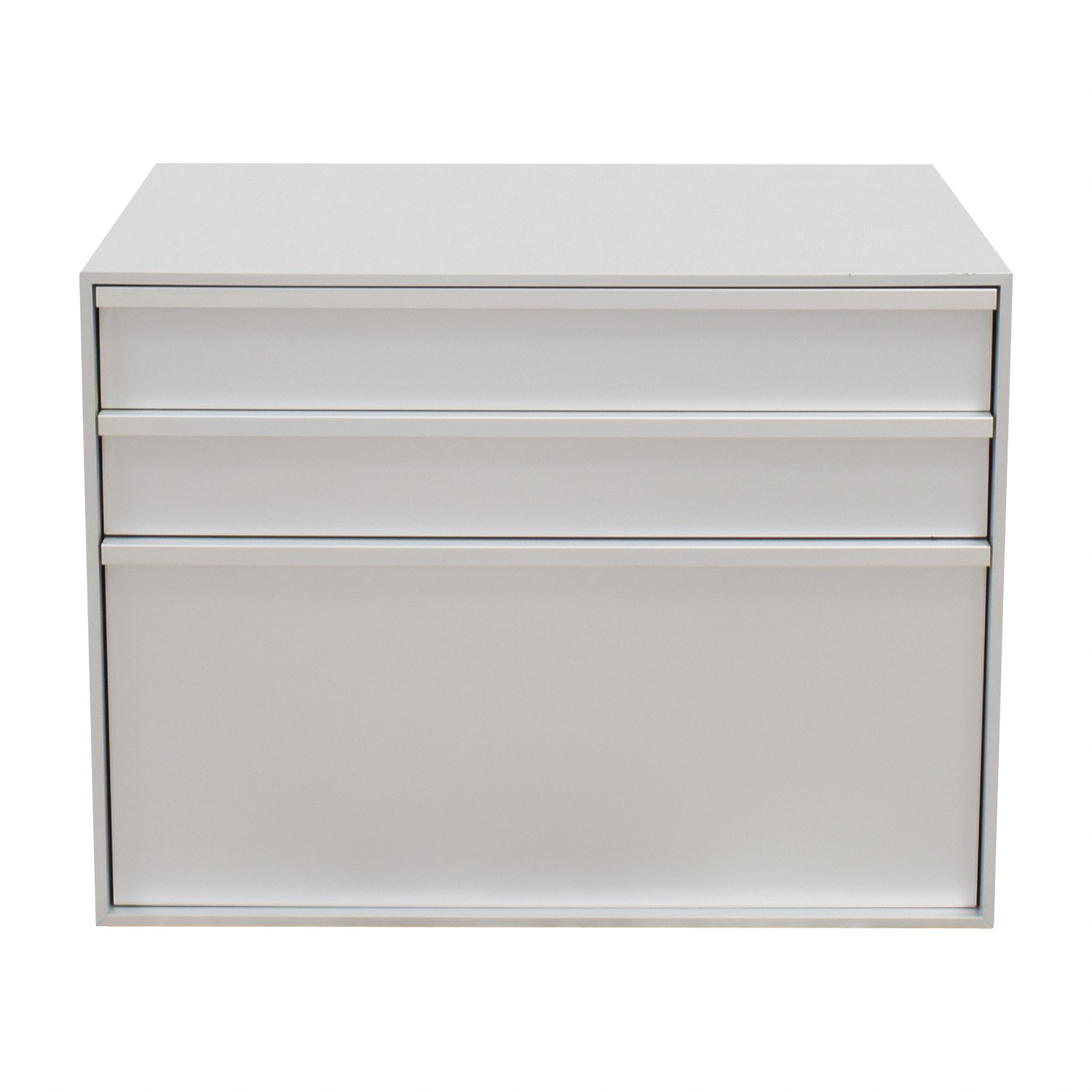 buy MDF Italia Three-Drawer Grey File Cabinet MDF Italia Storage
