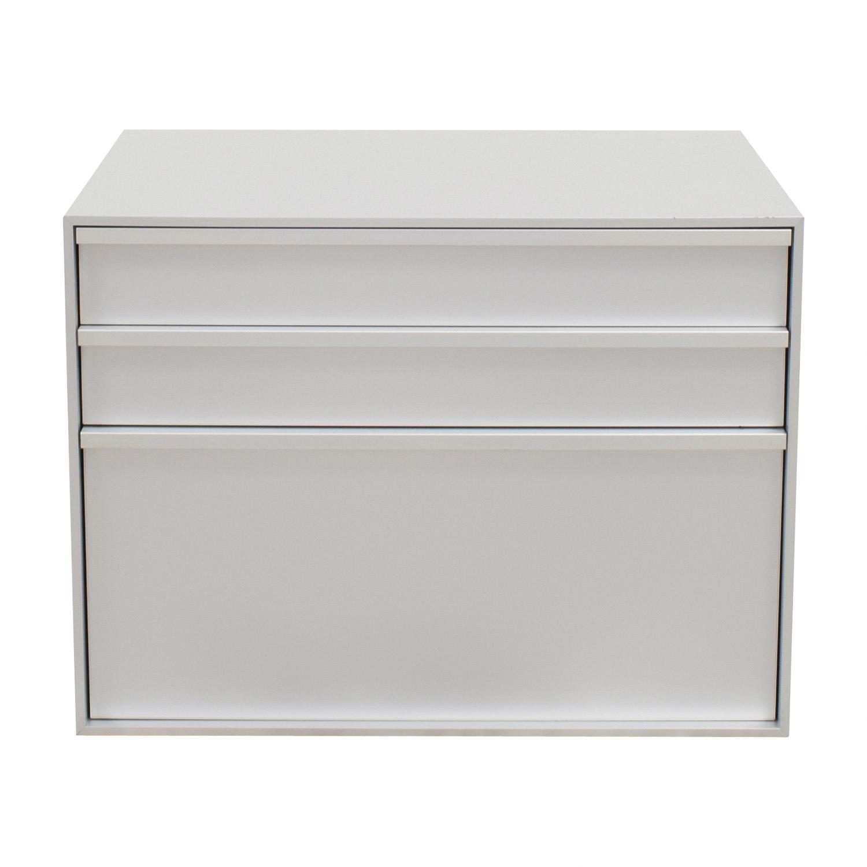 MDF Italia MDF Italia Three-Drawer Grey File Cabinet discount