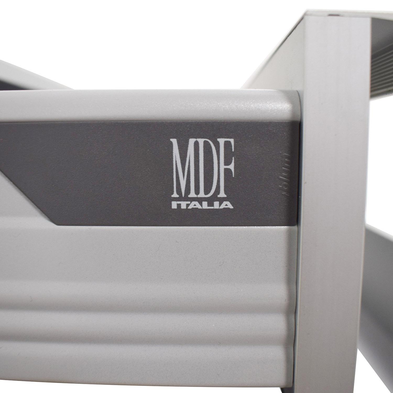 MDF Italia Three-Drawer Grey File Cabinet sale