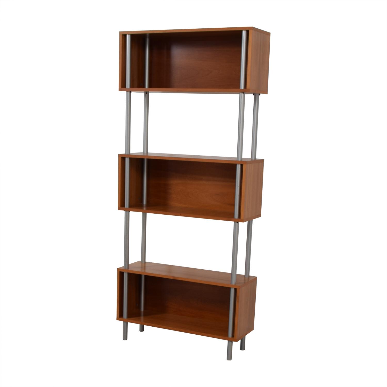 Modern Three-Tiered Bookshelf Bookcases & Shelving