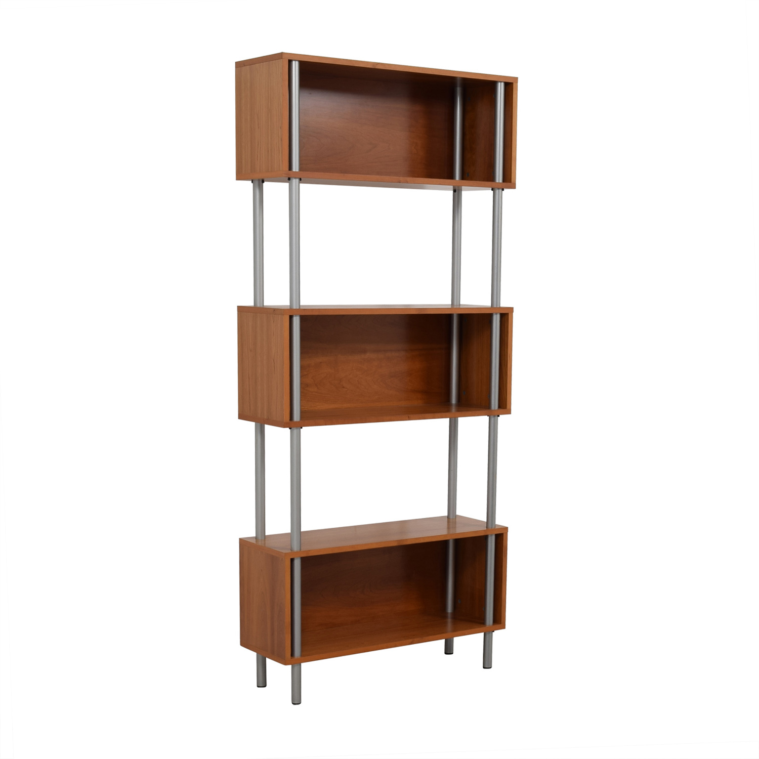 Modern Three-Tiered Bookshelf Storage