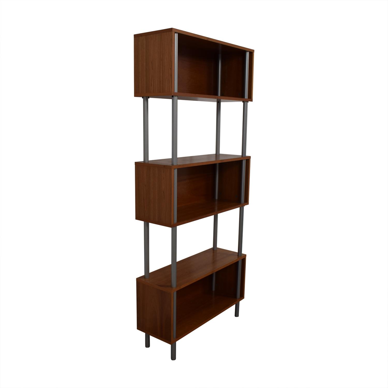Modern Three-Tiered Bookshelf sale