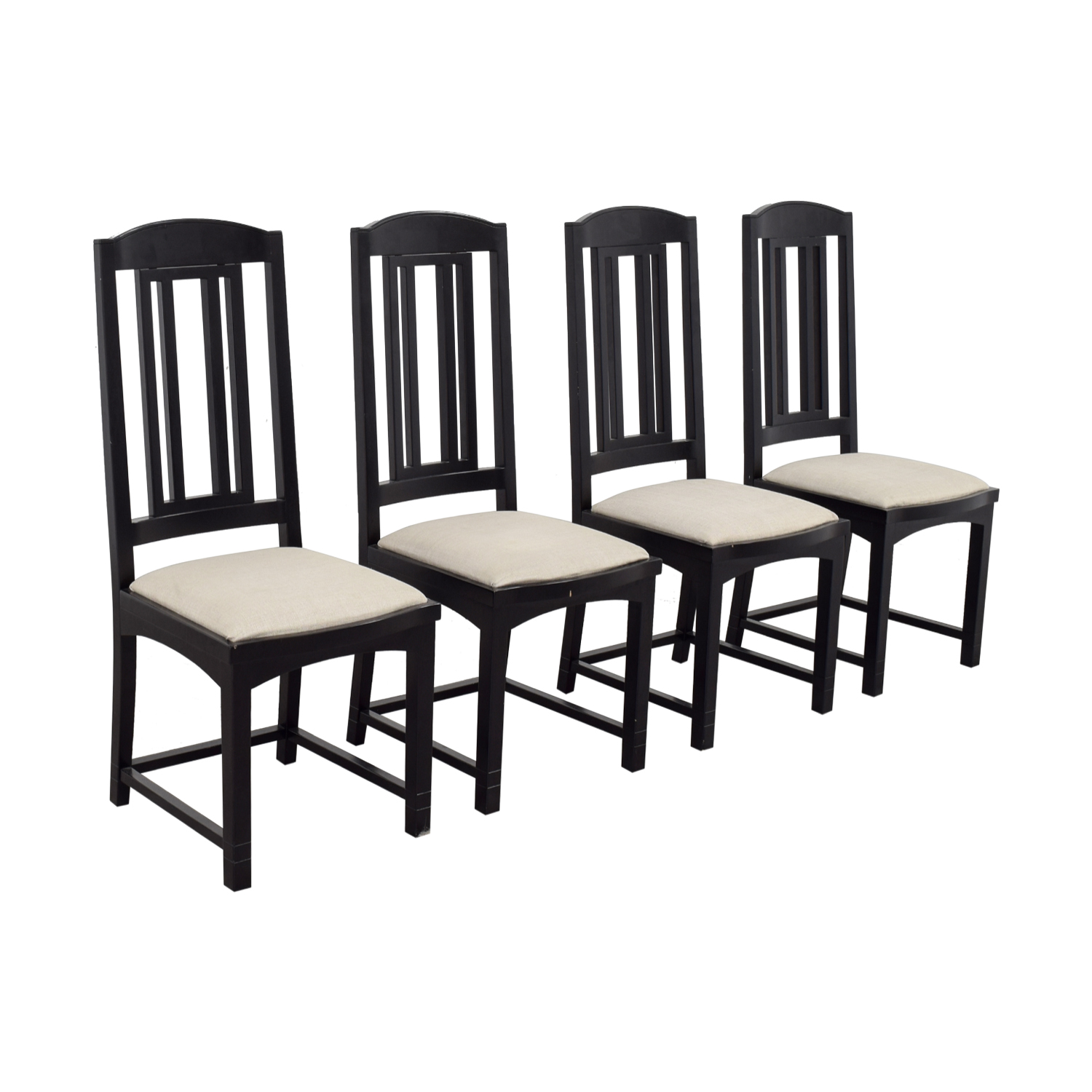 PACE Collection PACE Collection Black Dining Chairs nj