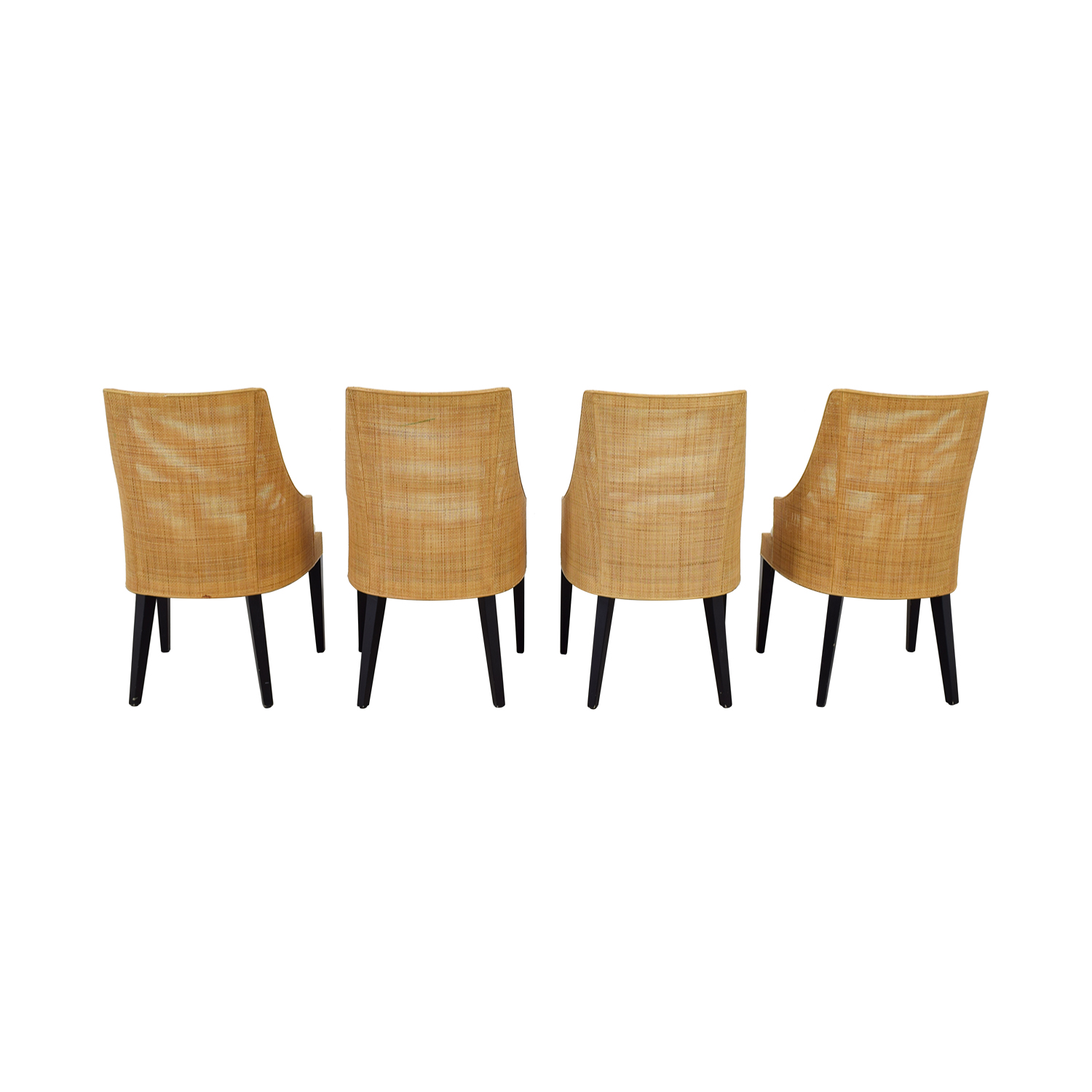 West Elm West Elm Beige and Tan Dining Chairs second hand