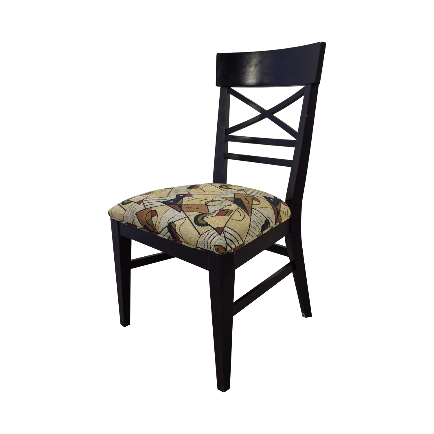 Ethan Allan Ethan Allan Geometric Upholstered Dining Chairs Multi Colored