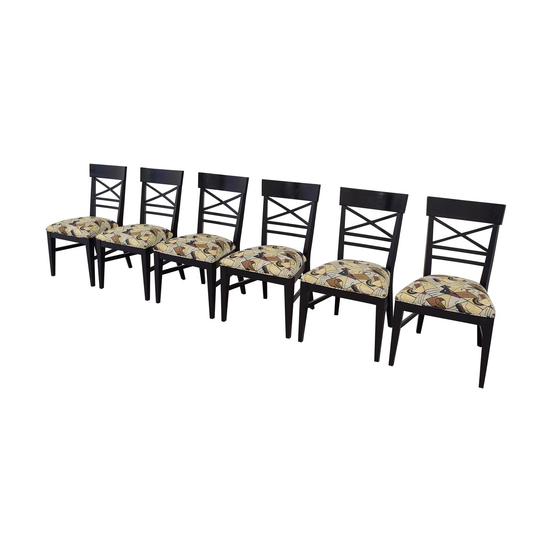 buy Ethan Allan Geometric Upholstered Dining Chairs Ethan Allan Dining Chairs