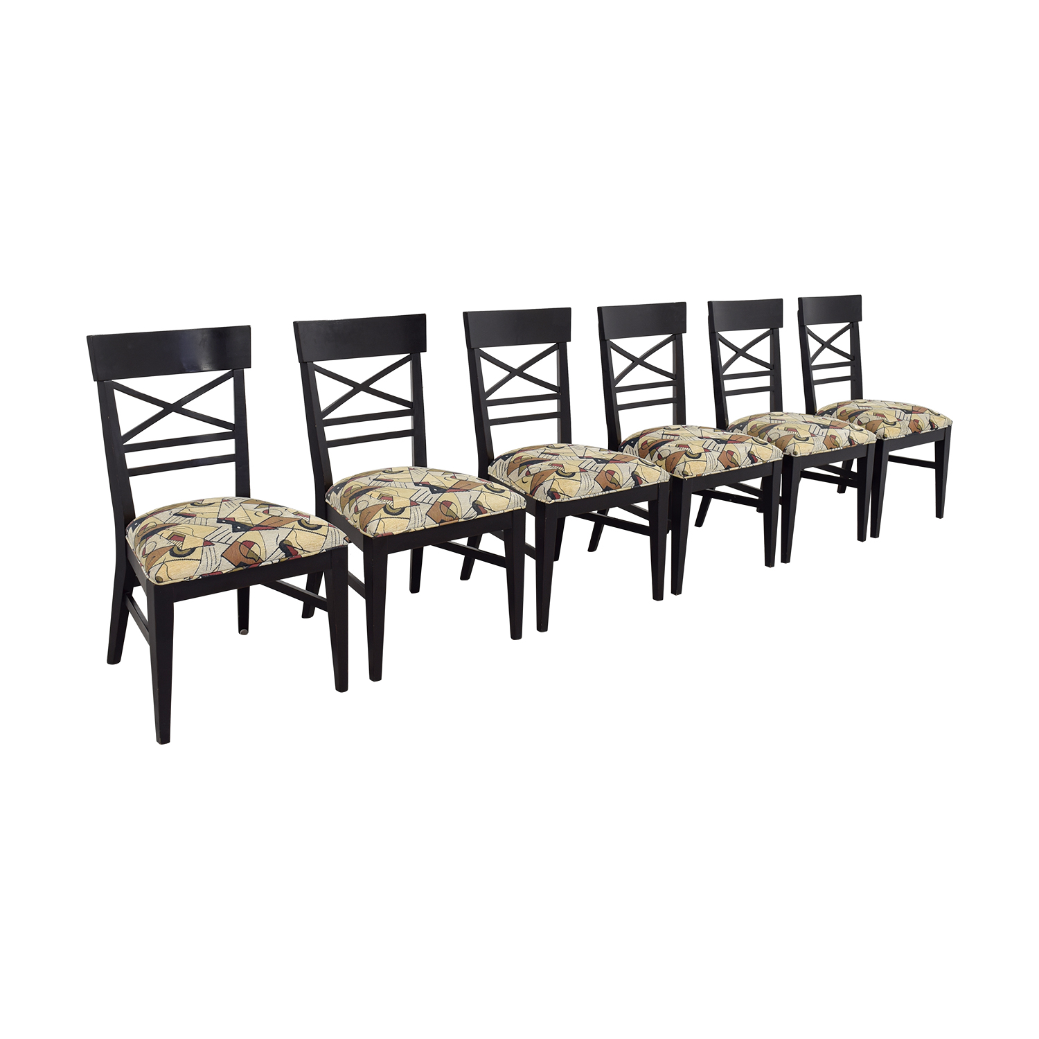 Ethan Allan Ethan Allan Geometric Upholstered Dining Chairs Dining Chairs