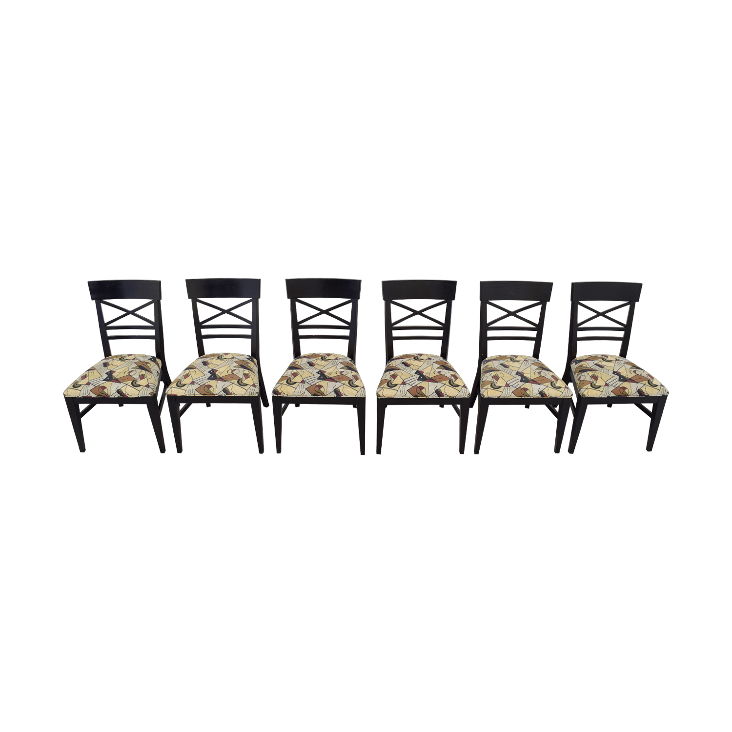 Ethan Allan Ethan Allan Geometric Upholstered Dining Chairs dimensions