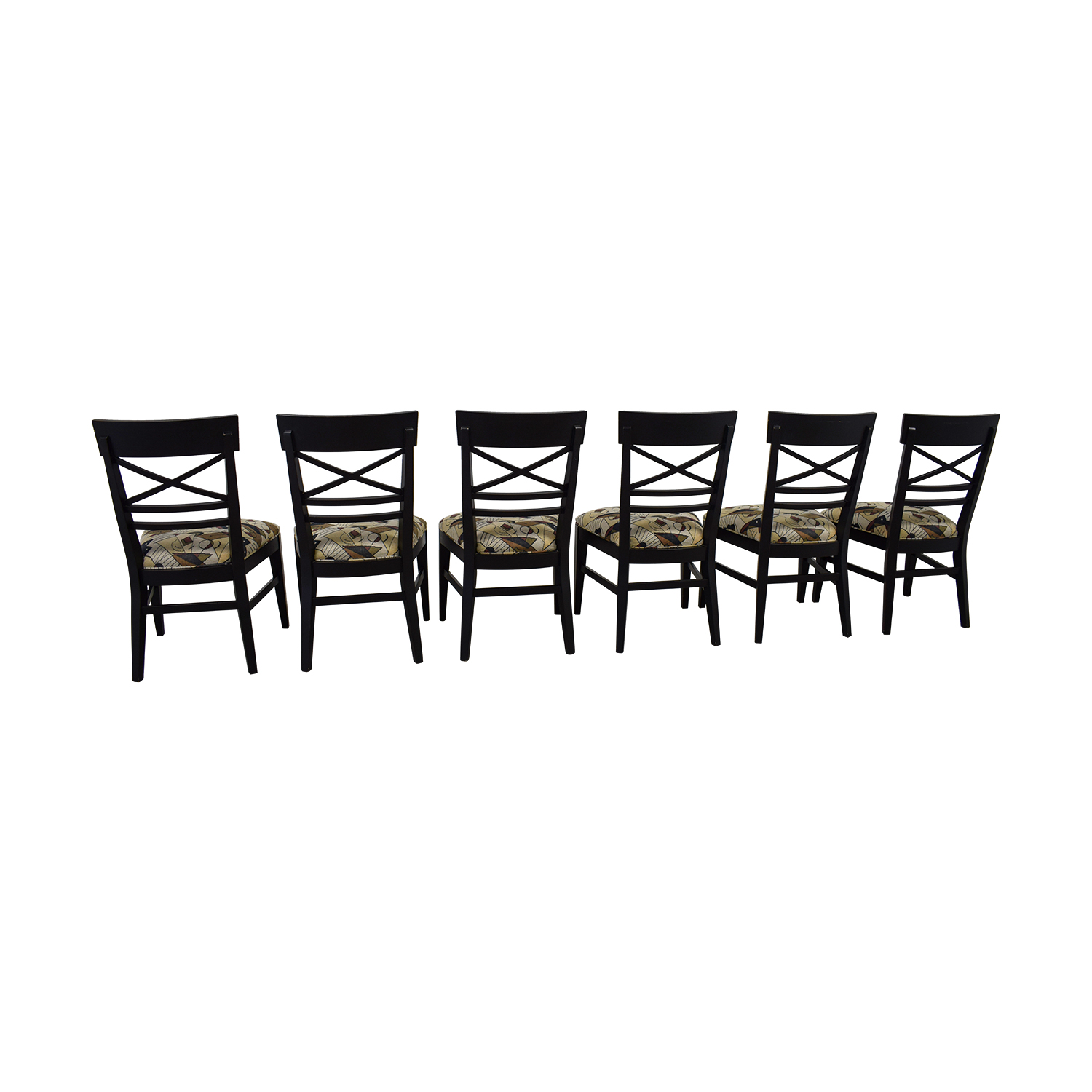 Ethan Allan Ethan Allan Geometric Upholstered Dining Chairs