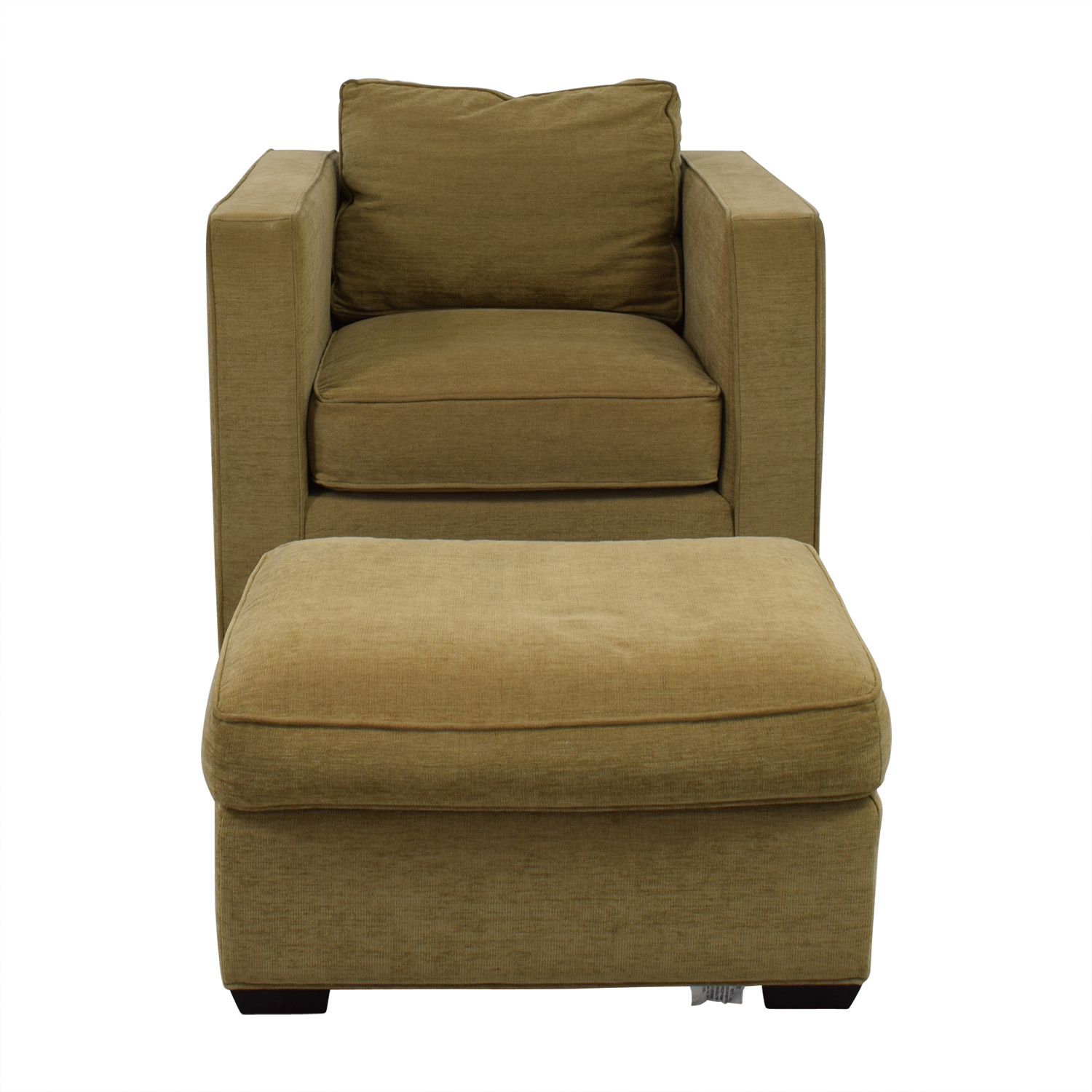 buy Room & Board Fabric Chair and Ottoman Room & Board Accent Chairs