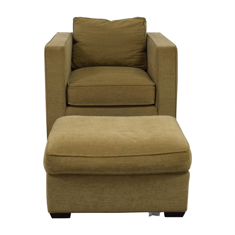 Room & Board Room & Board Fabric Chair and Ottoman discount