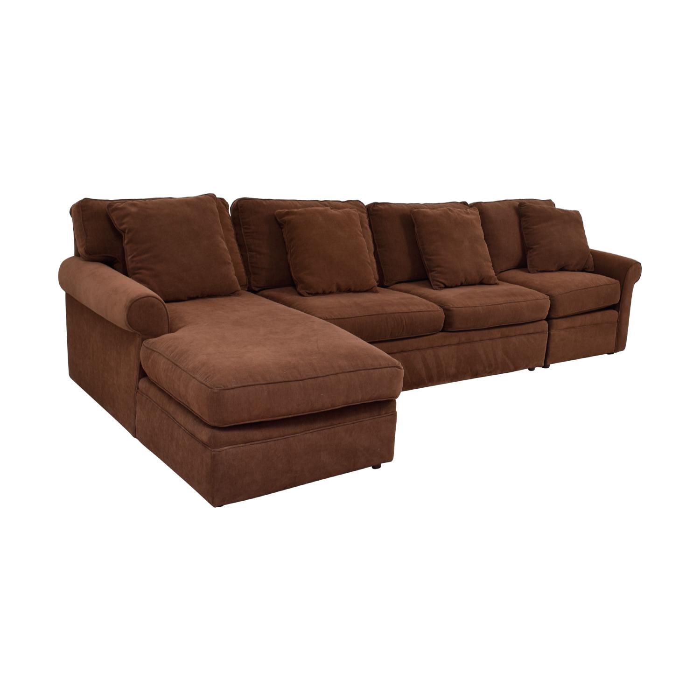 Rowe Furniture Brown Sectional Sofa