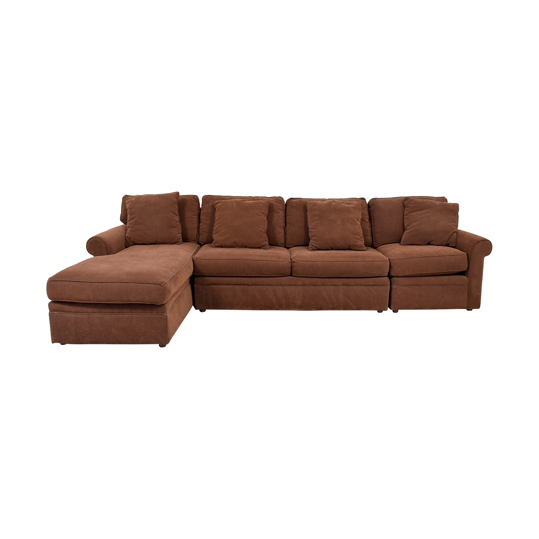 90% OFF - Rowe Furniture Rowe Furniture Brown Sectional Sofa / Sofas