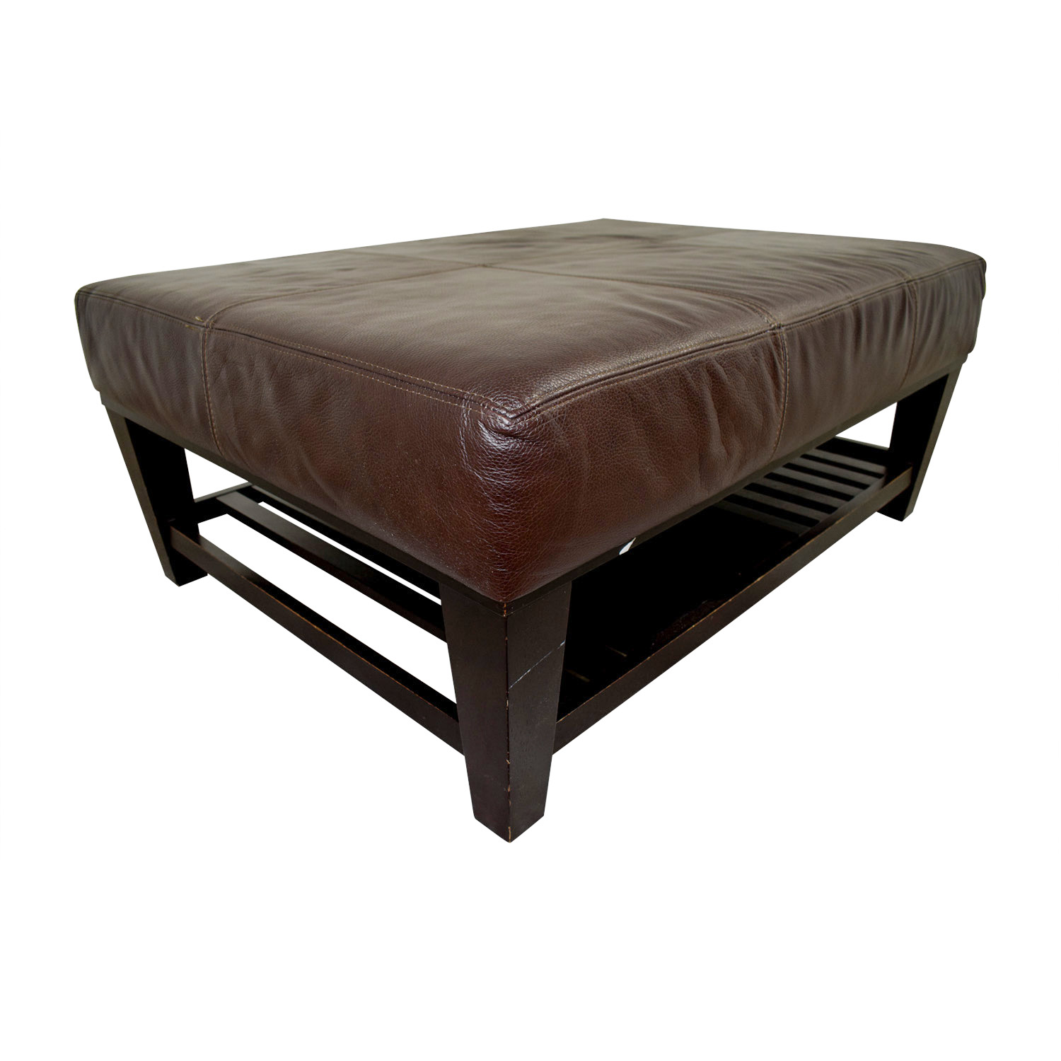 Surprising 90 Off Rowe Furniture Rowe Leather Ottoman Chairs Caraccident5 Cool Chair Designs And Ideas Caraccident5Info