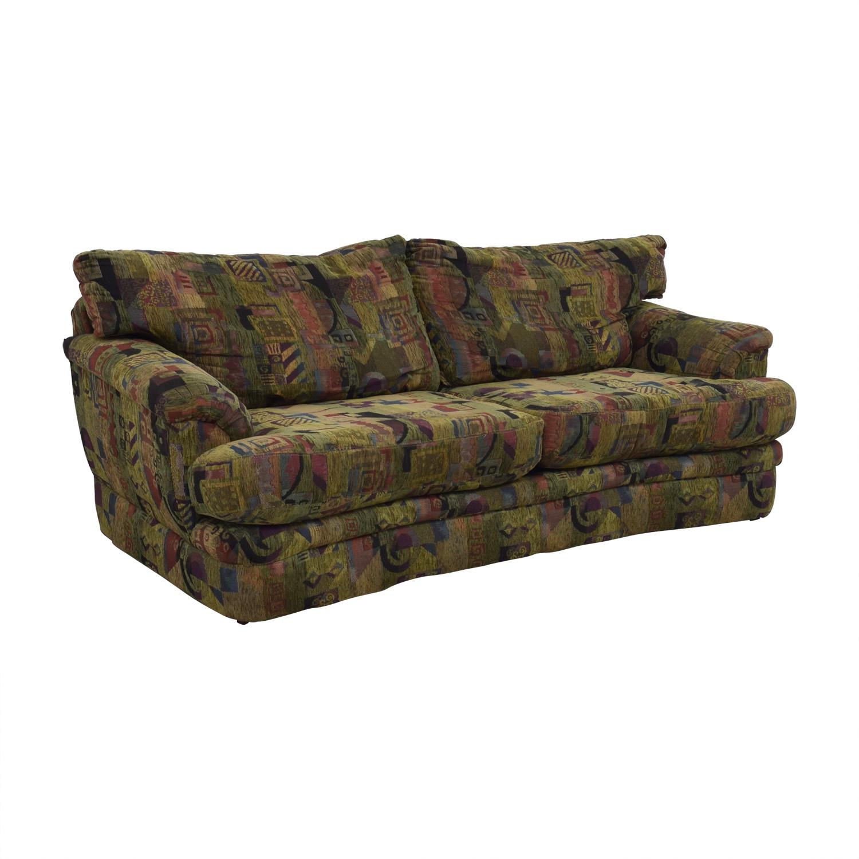 Raymour & Flanigan Raymour & Flanigan Multi-Colored Two-Cushion Sofa price