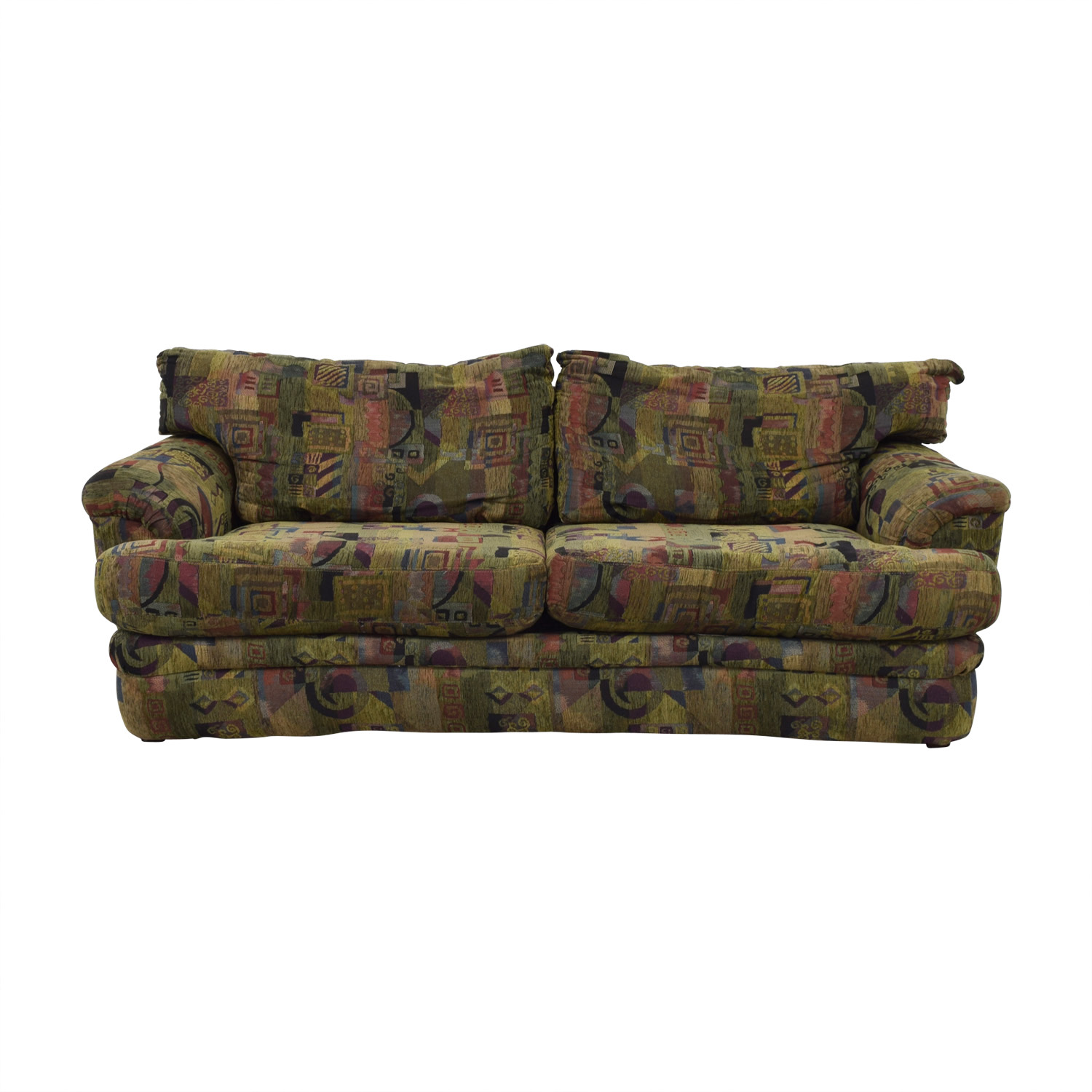 Raymour & Flanigan Raymour & Flanigan Multi-Colored Two-Cushion Sofa Sofas