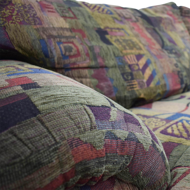buy Raymour & Flanigan Multi-Colored Two-Cushion Sofa Raymour & Flanigan