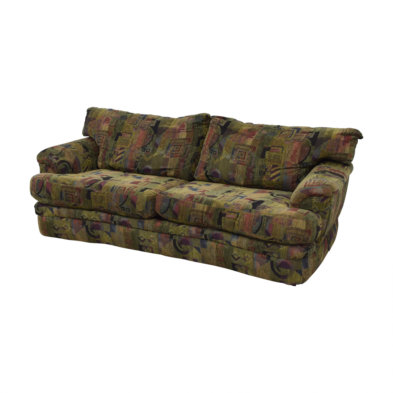 Raymour & Flanigan Raymour & Flanigan Multi-Colored Two-Cushion Sofa discount