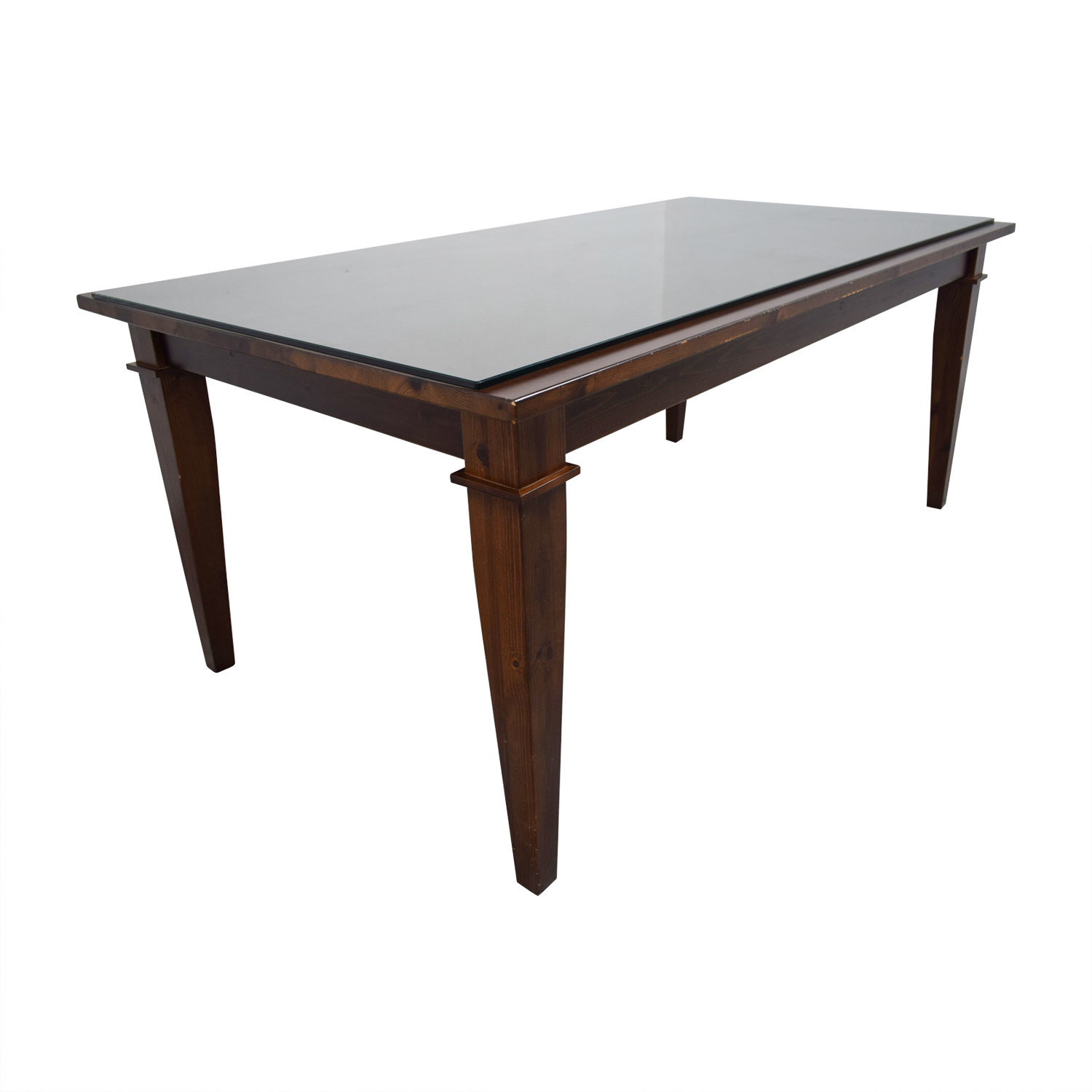 shop Pottery Barn Dining Table with Glass Top Pottery Barn Dinner Tables