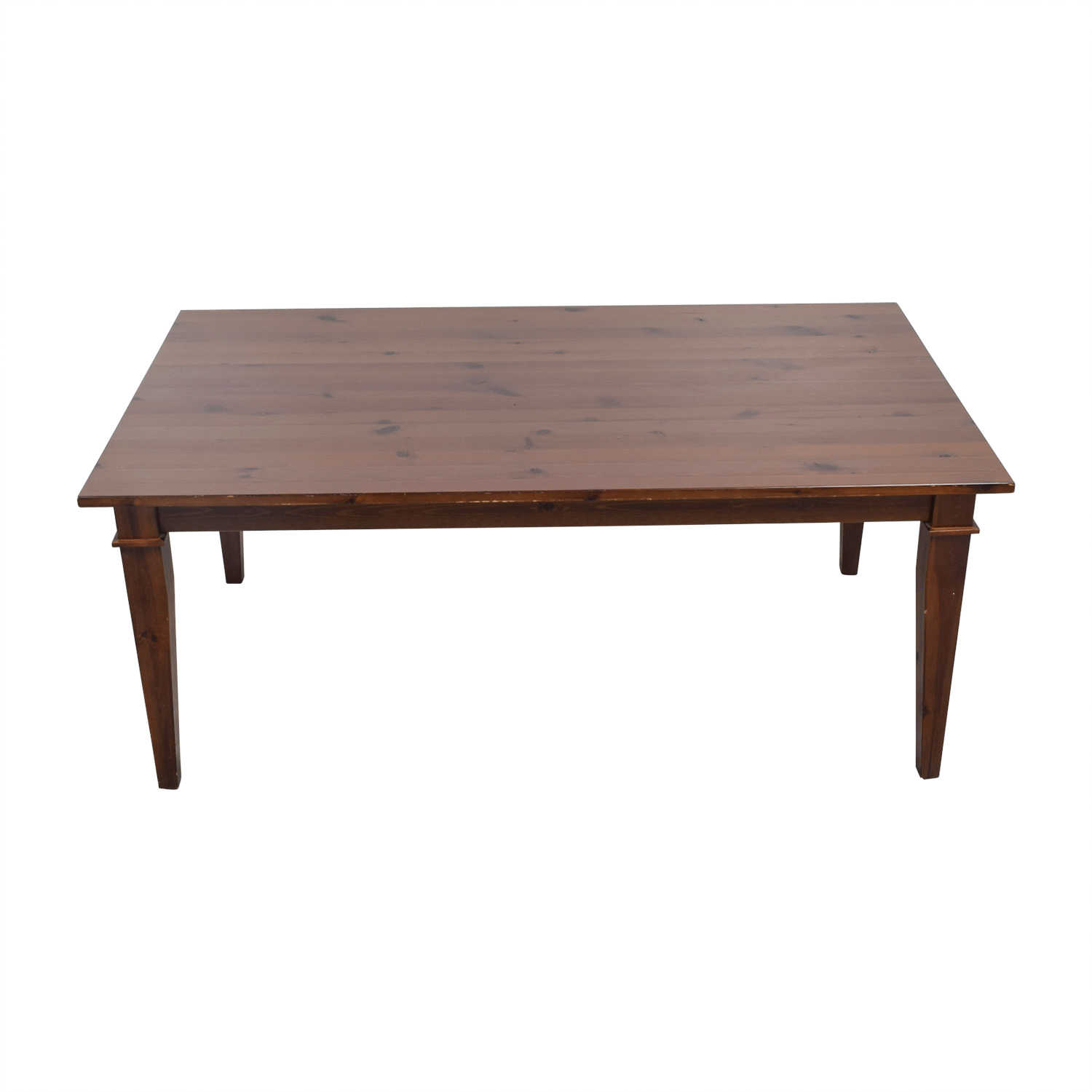 Pottery Barn Pottery Barn Dining Table with Glass Top dimensions