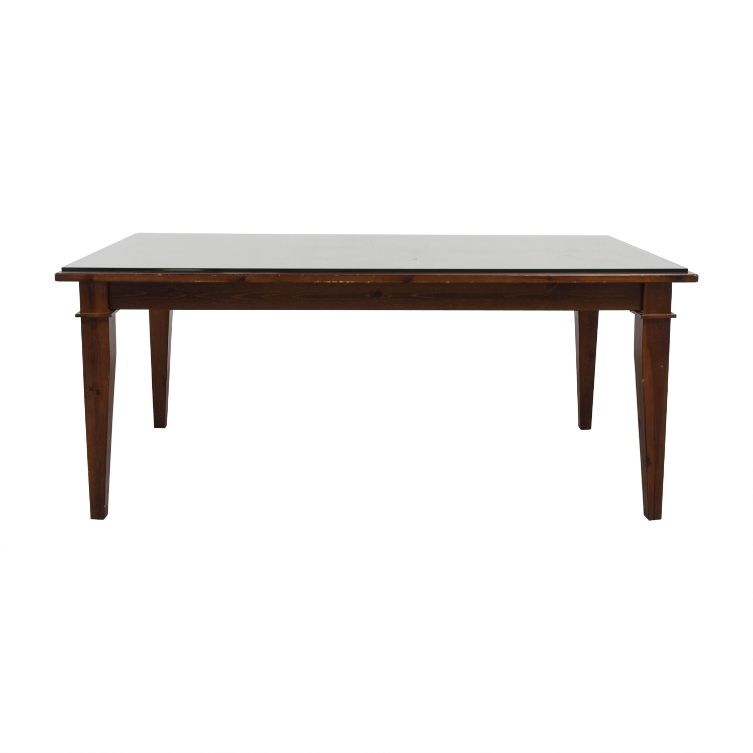 Pottery Barn Pottery Barn Dining Table with Glass Top nj