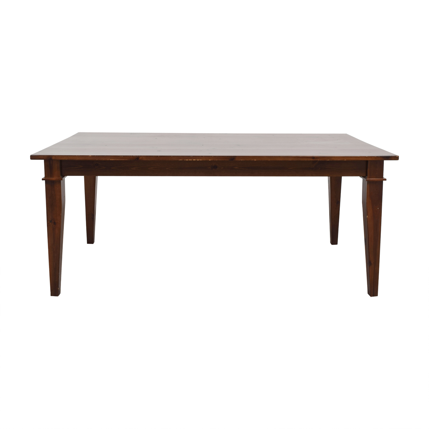 shop Pottery Barn Pottery Barn Dining Table with Glass Top online