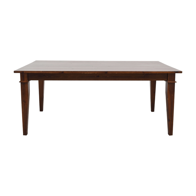 buy Pottery Barn Pottery Barn Dining Table with Glass Top online