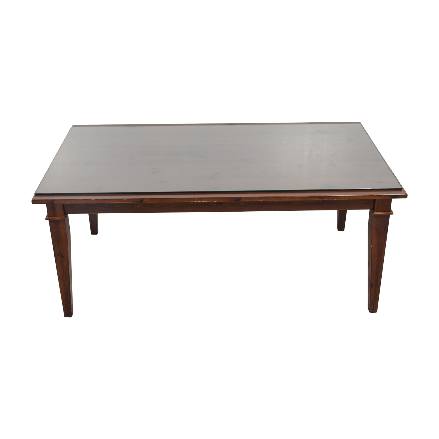 Pottery Barn Pottery Barn Dining Table with Glass Top coupon