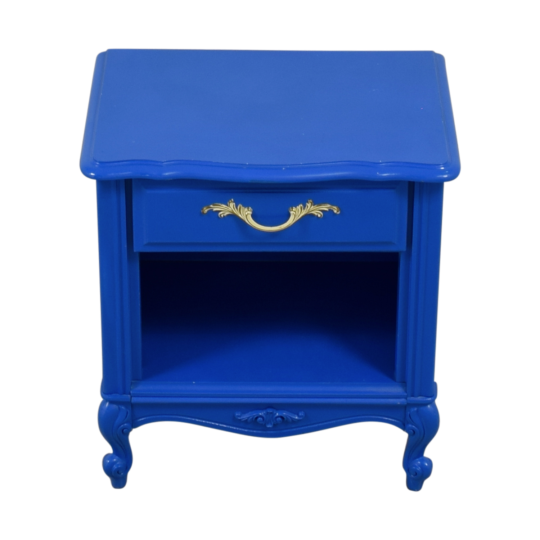 shop Blue Bedside End Table  Tables