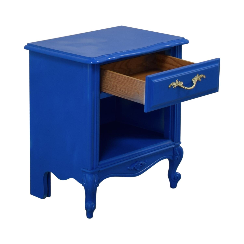 buy Blue Bedside End Table