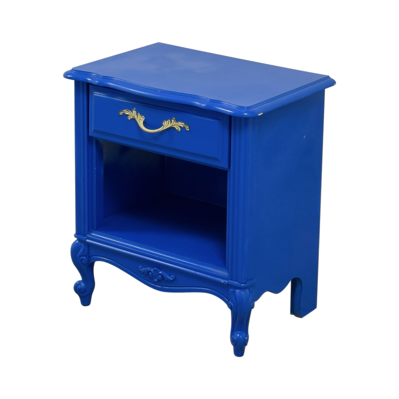 Blue Bedside End Table / Tables