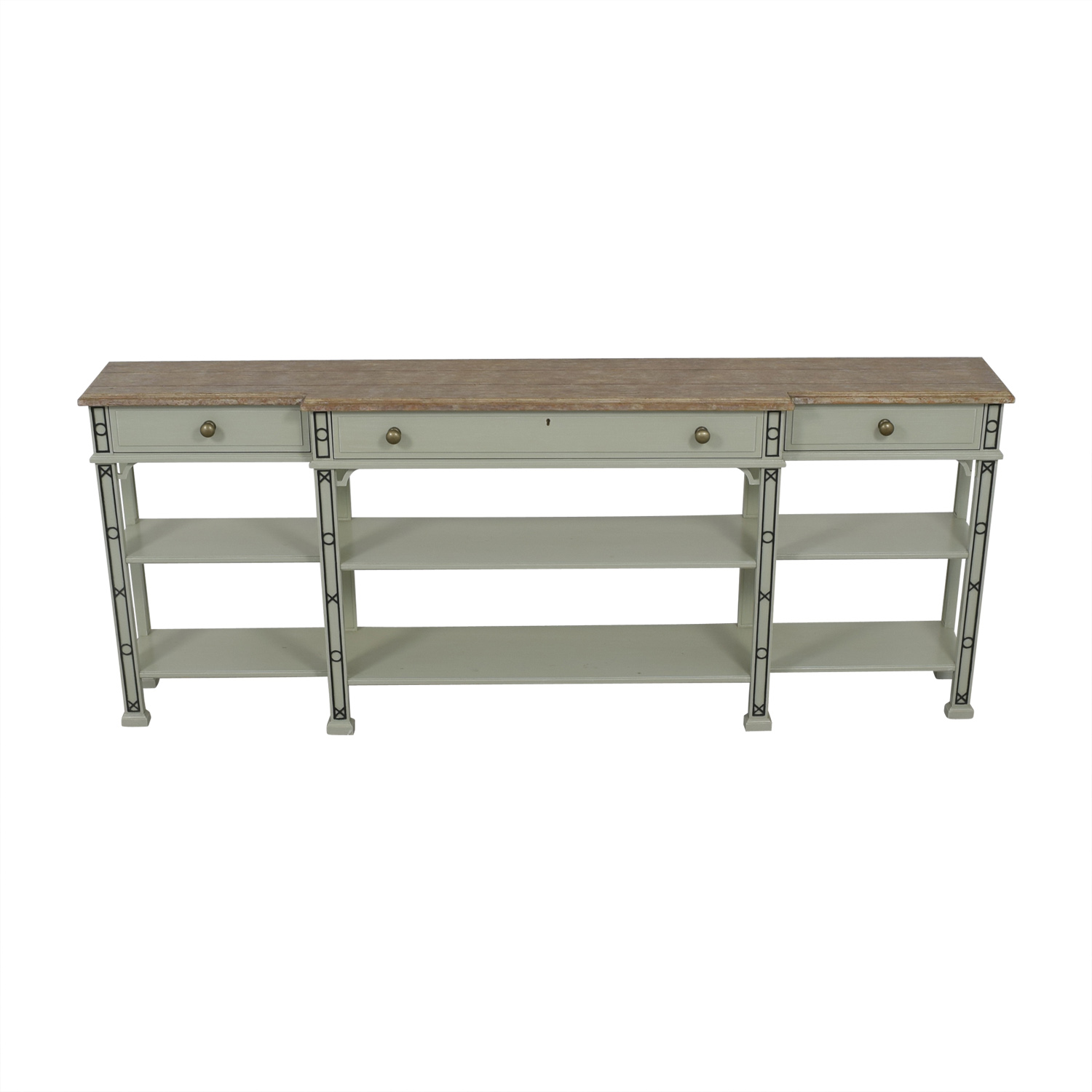 buy Stanley Furniture Stanley Furniture Preserve Brighton White and Brown Sofa Table online
