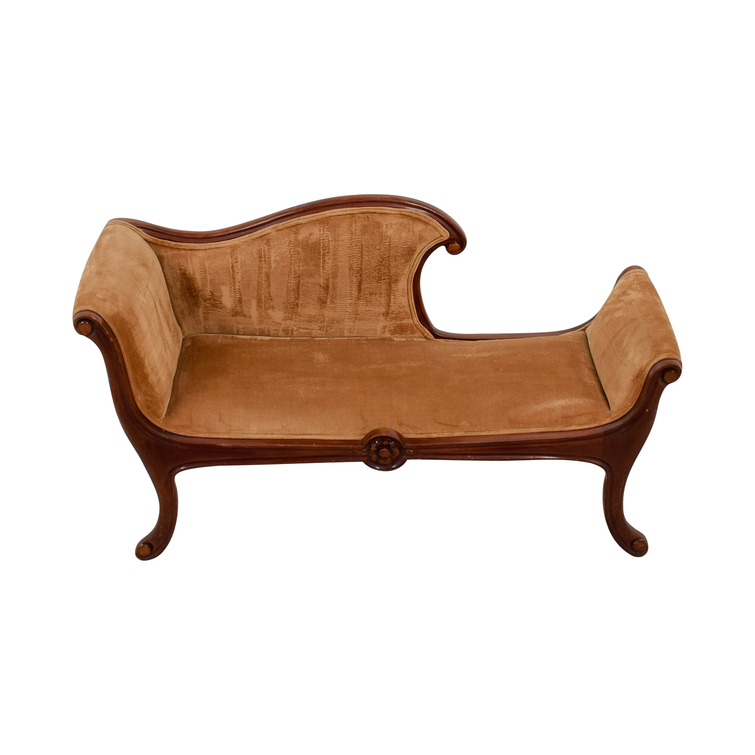 shop Antique Brown Chaise Lounge  Sofas