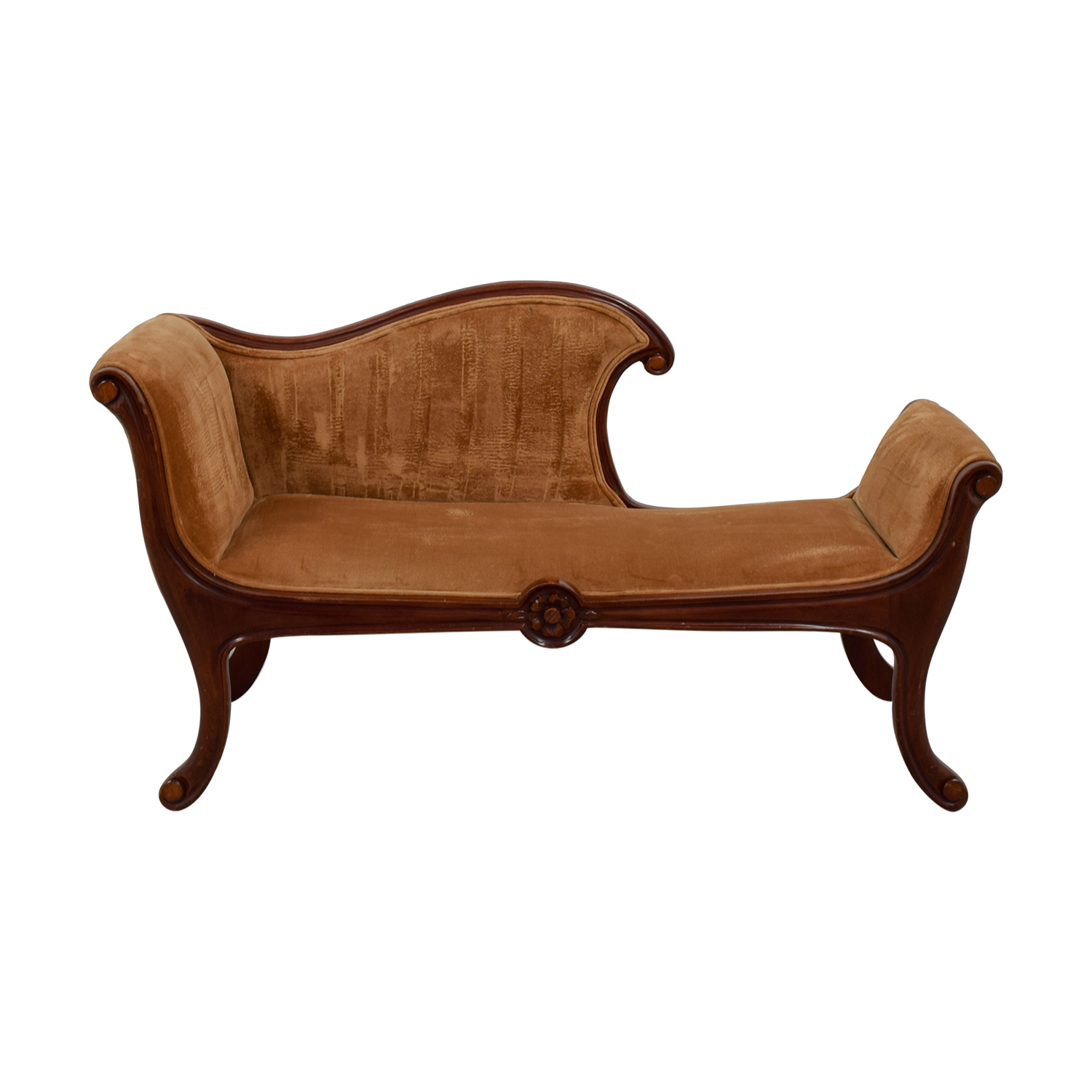 Antique Brown Chaise Lounge dimensions
