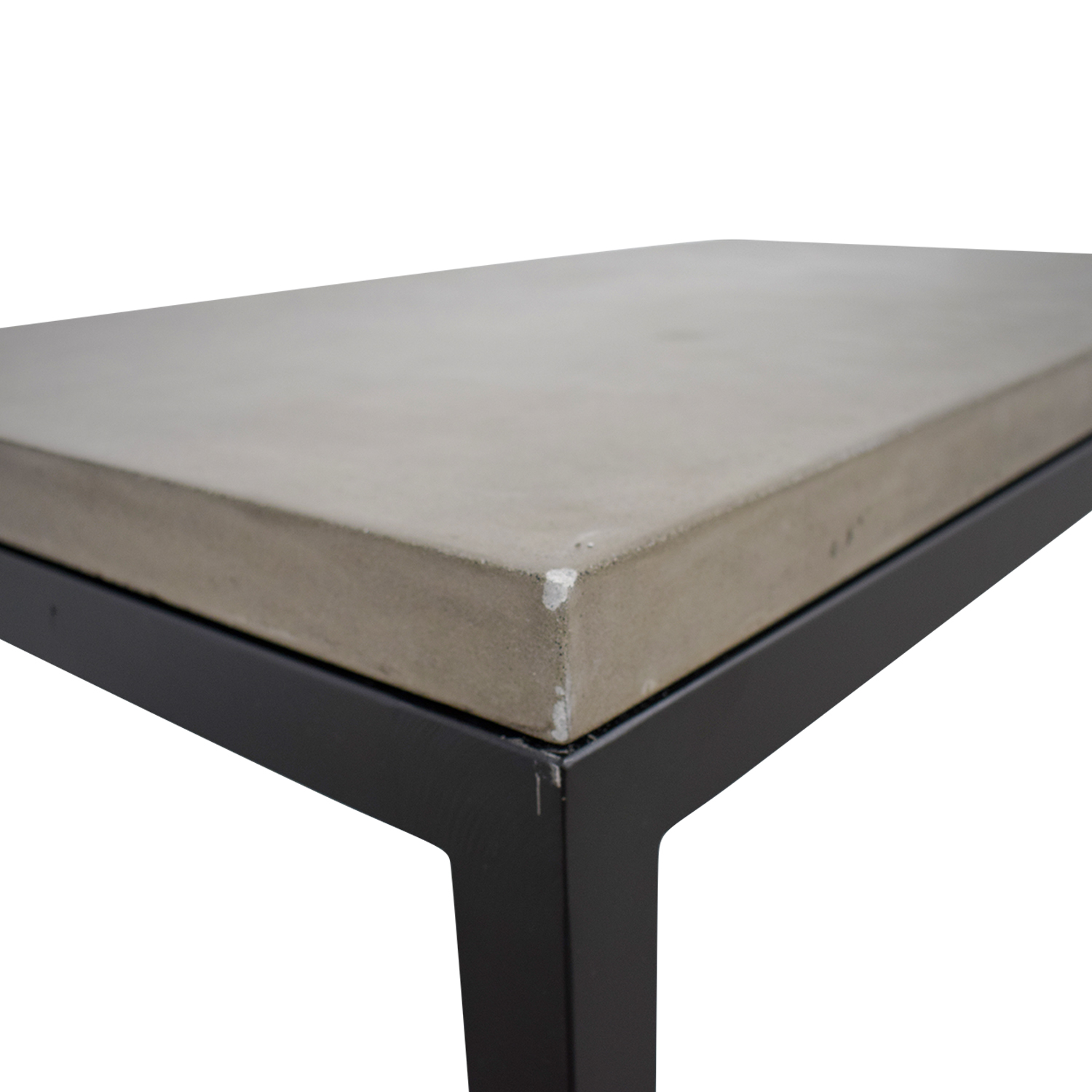 69 off crate barrel crate barrel parsons concrete top dark steel base small rectangular coffee table tables