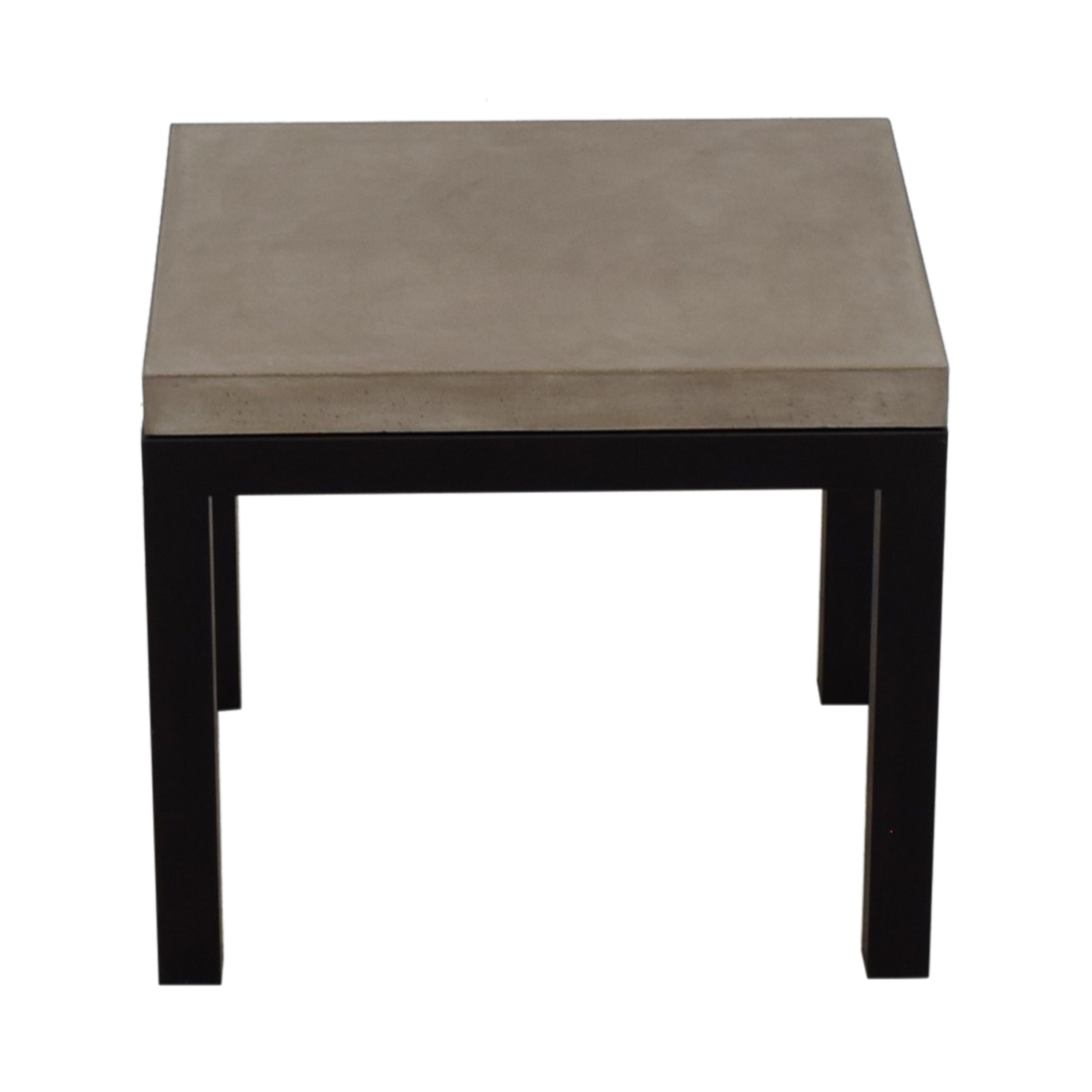 Crate & Barrel Parsons Concrete Top Dark Steel Base End Table Crate & Barrel