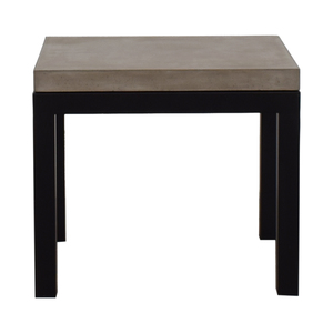 Crate & Barrel Crate & Barrel Parsons Concrete Top Dark Steel Base End Table on sale