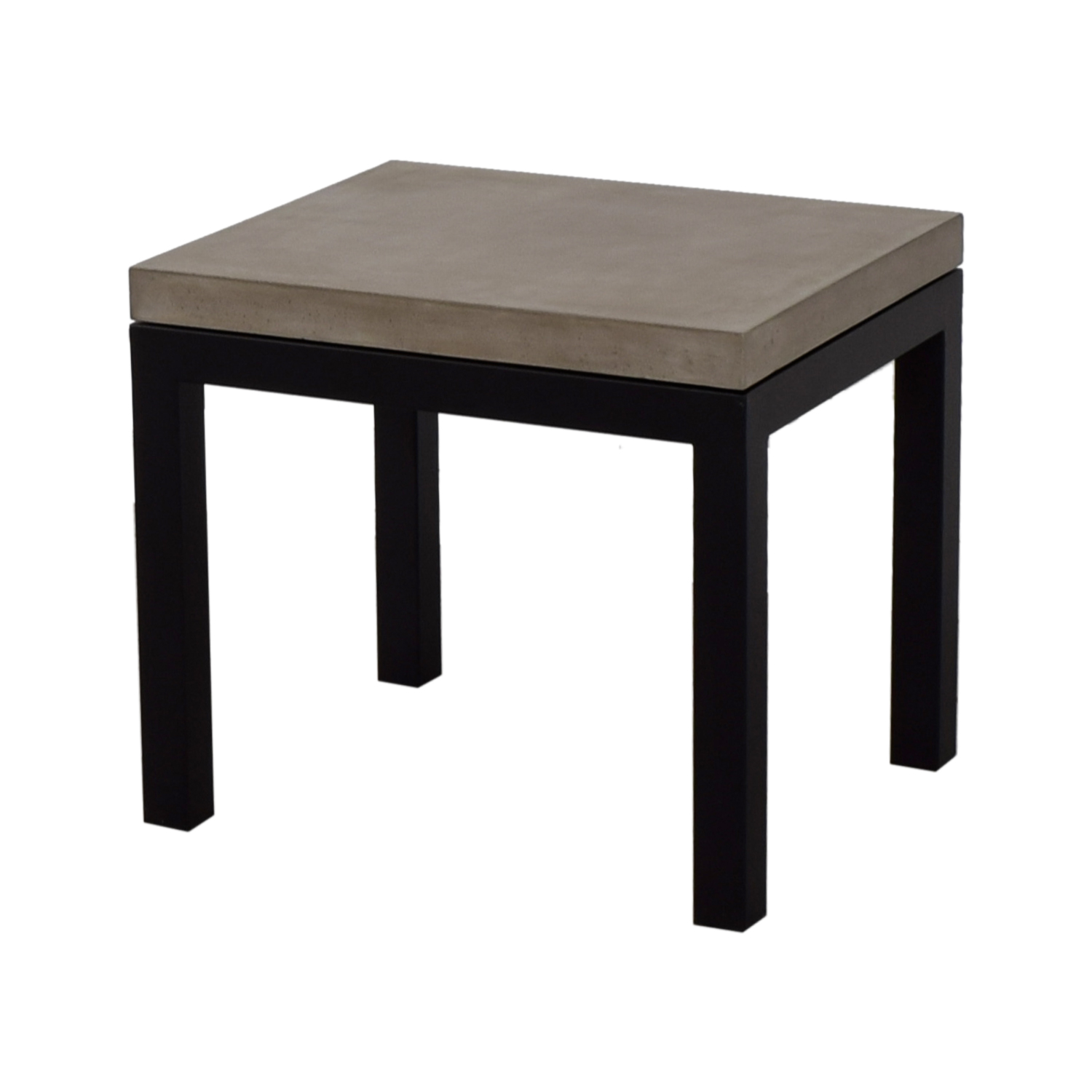 shop Crate & Barrel Parsons Concrete Top Dark Steel Base End Table Crate & Barrel