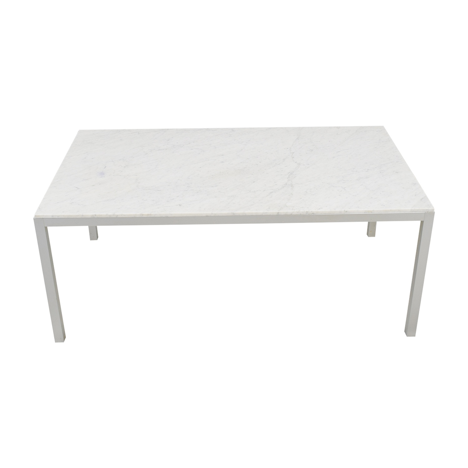 MDF Italia MDF Italia White Marble Dining Table or Desk Dinner Tables