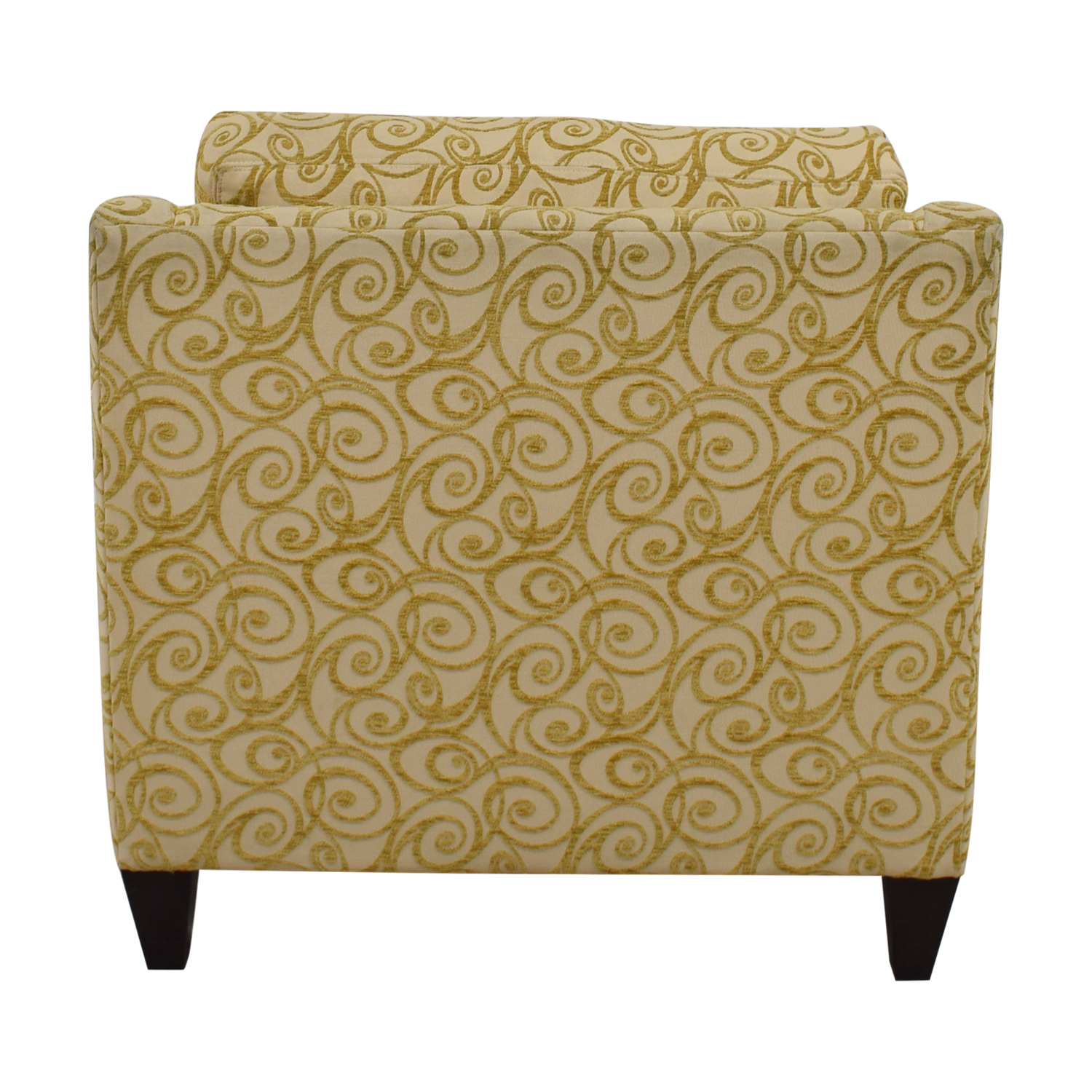 shop Ethan Allen Beige and Gold Monterey Chair and Ottoman Ethan Allen Sofas