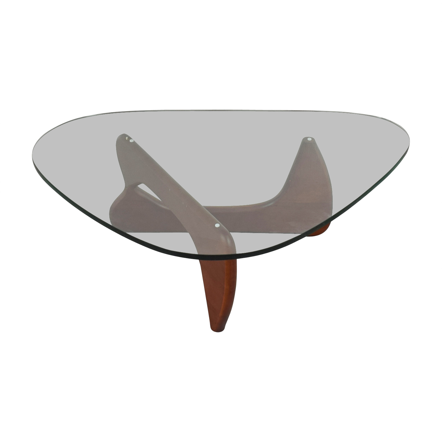 Modway Modway Isamu Noguchi-inspired Triangle Glass Coffee Table with Cherry Wood