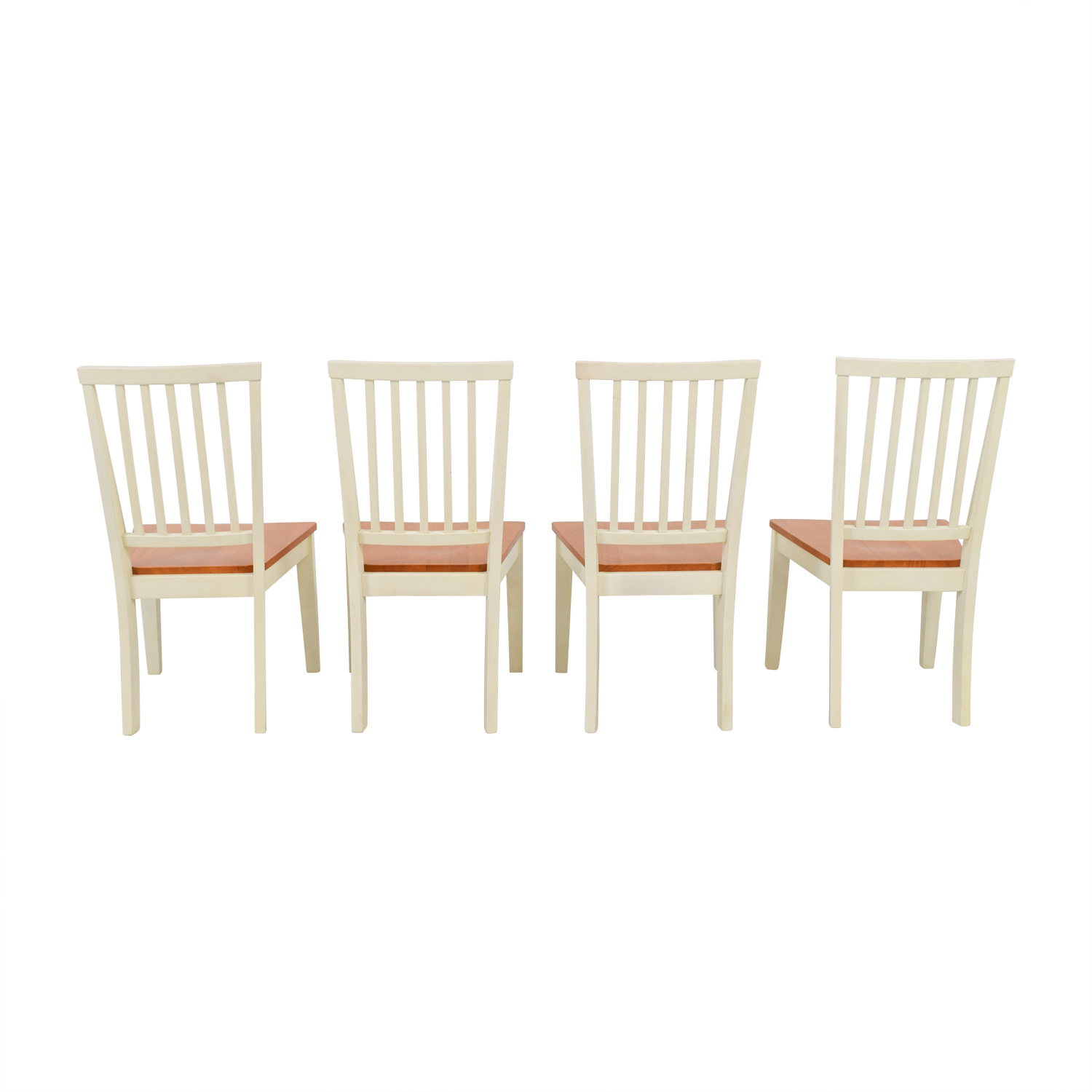 shop Raymour & Flanigan Raymour & Flanigan Ashby Cherry and Antique White Dining Chairs online