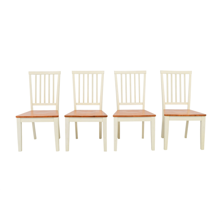 Raymour & Flanigan Raymour & Flanigan Ashby Cherry and Antique White Dining Chairs nyc