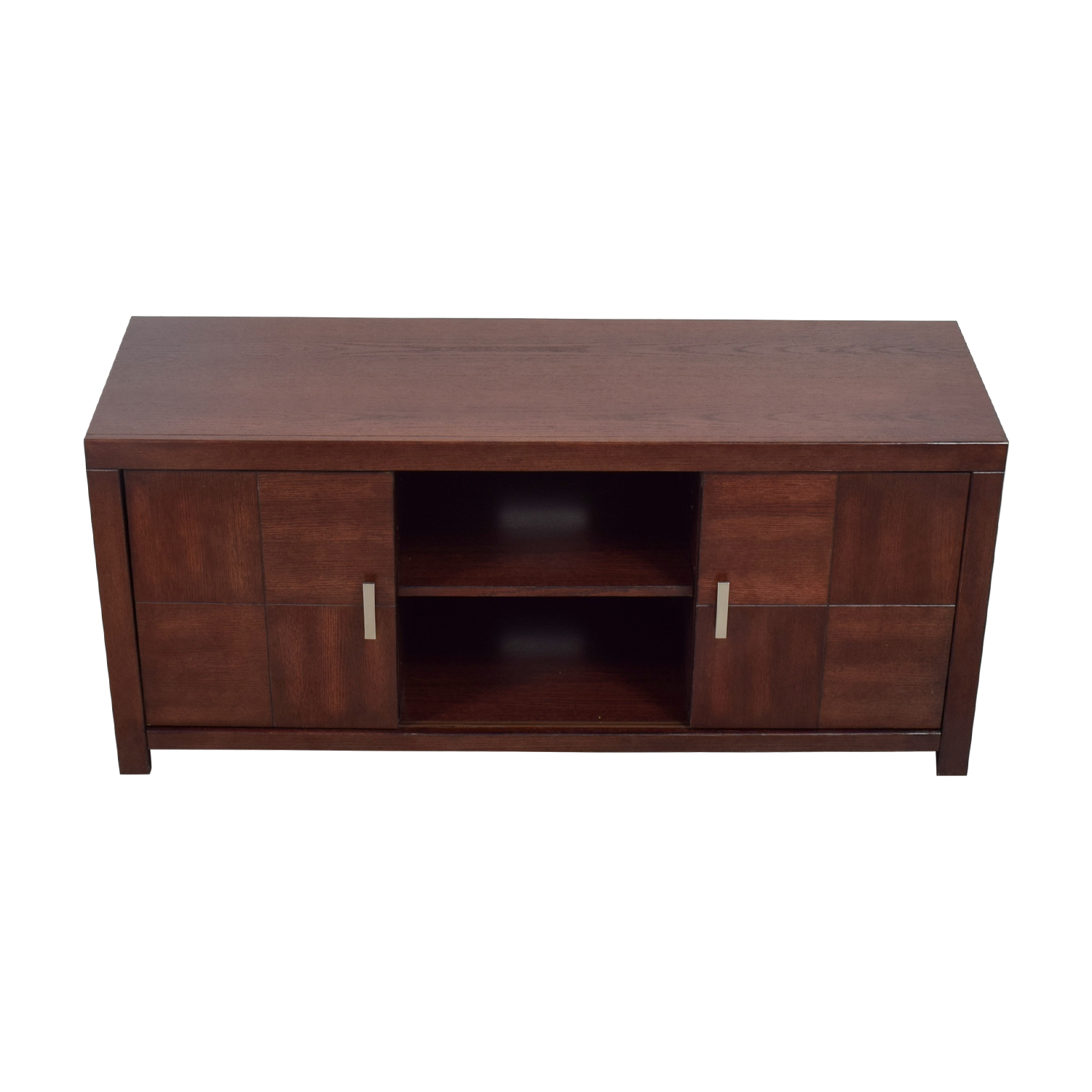Raymour & Flanigan Raymour & Flanigan Latham Bordeaux Media Console dimensions