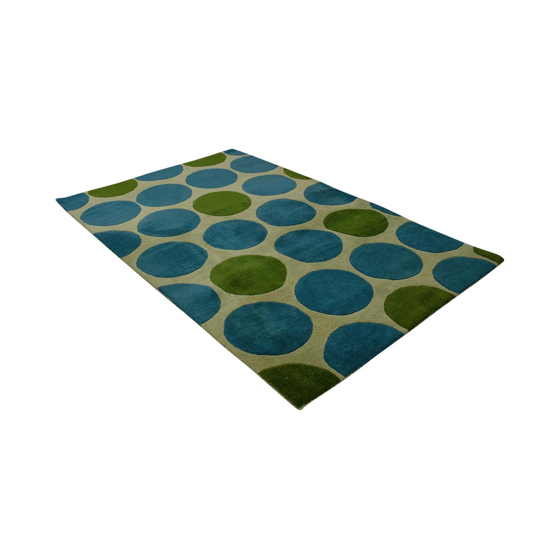 Horizon Horizon Green and Turquoise Circle Rug dimensions