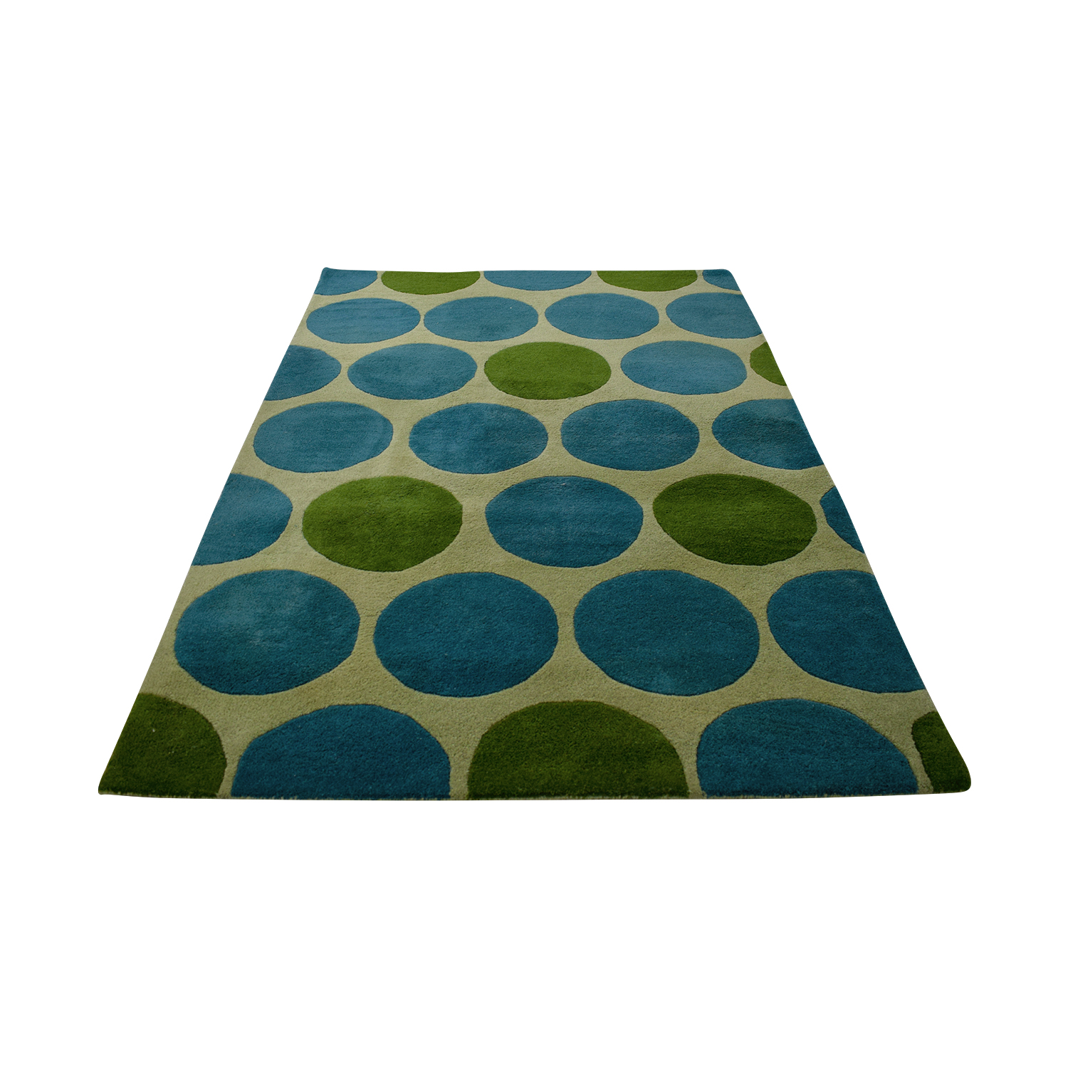 Horizon Horizon Green and Turquoise Circle Rug coupon